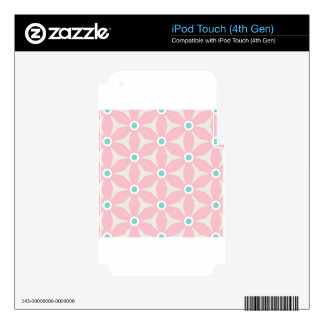 Baby pink floral print iPod touch 4G skin
