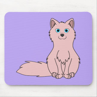 Baby Pink Fox Sitting Mouse Pad