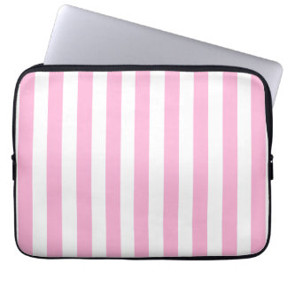 BABY PINK FUN BOLD STRIPES PATTERN COMPUTER SLEEVE