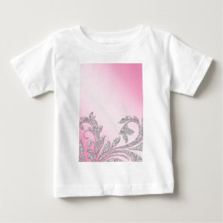 Baby Pink Glitter Leaves Gifts Baby T-Shirt
