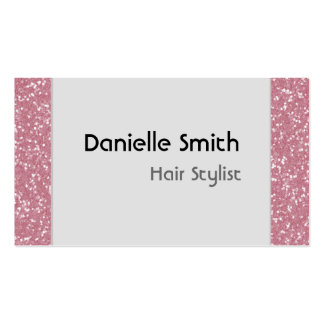 Baby Pink Glitter Personalized Business Cards