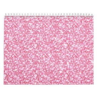 Baby Pink Glitter Printed Calendars