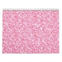 Baby Pink Glitter Printed Calendar