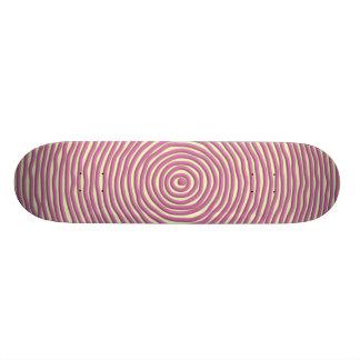 Baby Pink Hand Drawn Circles Skateboard