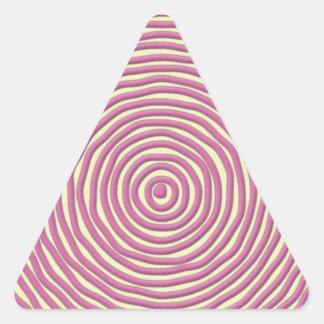 Baby Pink Hand Drawn Circles Triangle Sticker