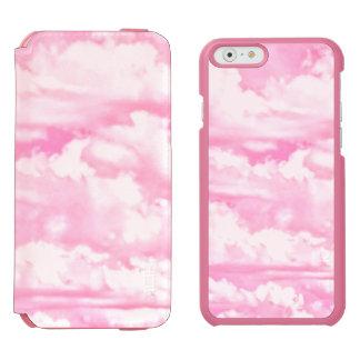 Baby Pink Happy Clouds Backgrouund iPhone 6/6s Wallet Case