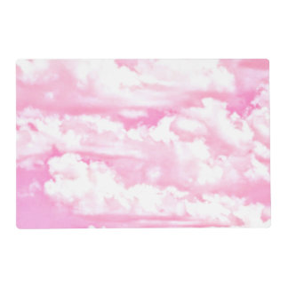 Baby Pink Happy Clouds Backgrouund Placemat