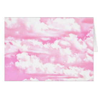 Baby Pink Happy Clouds Decor Card