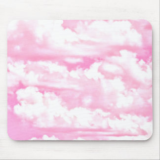 Baby Pink Happy Clouds Decor Mouse Pad