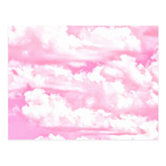 Baby Pink Happy Clouds Decor Postcard