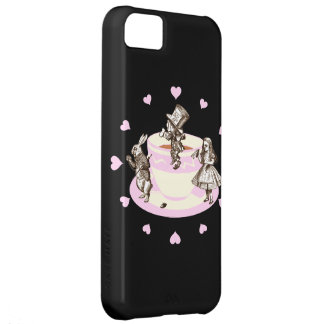 Baby Pink Hearts Around a Mad Tea Party iPhone 5C Case