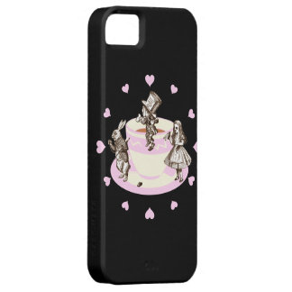Baby Pink Hearts Around a Mad Tea Party iPhone SE/5/5s Case