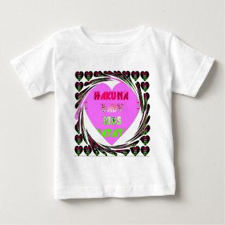 Baby Pink  Hearts Hakuna Matata Baby Kids Design.p Baby T-Shirt
