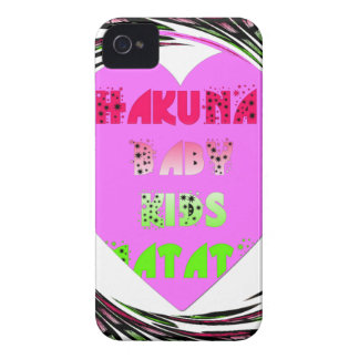 Baby Pink  Hearts Hakuna Matata Baby Kids Design.p iPhone 4 Case