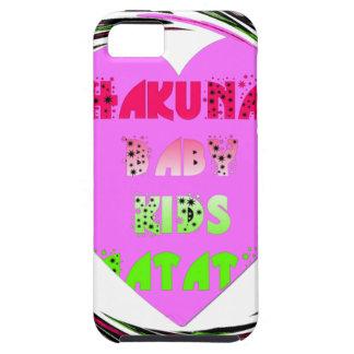 Baby Pink  Hearts Hakuna Matata Baby Kids Design.p iPhone 5 Case