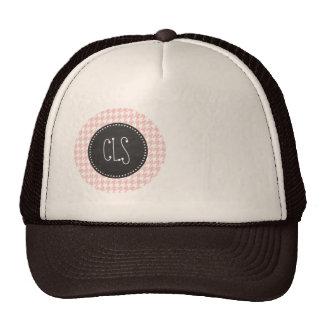 Baby Pink Houndstooth; Retro Chalkboard look Hats