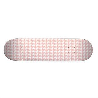 Baby Pink Houndstooth Skate Board