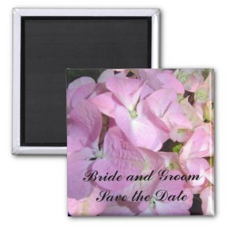 Baby Pink Hydrangea Save the Date magnet