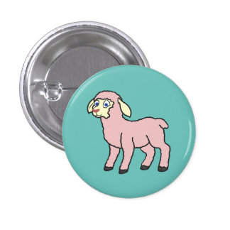 Baby Pink Lamb Button