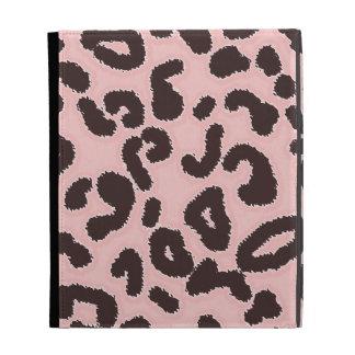 Baby Pink Leopard Animal Print iPad Folio Covers