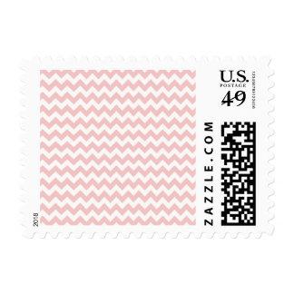 Baby Pink, Light Pink Chevron Stripes Stamp