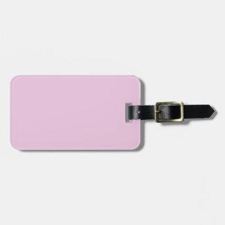 Baby pink bag tag