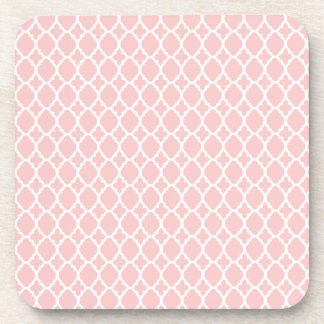 Baby Pink Moroccan Tile Coasters