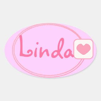 baby pink name sticker