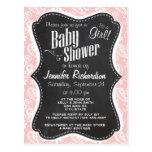 Baby Pink Paisley; Vintage Chalkboard look Postcards