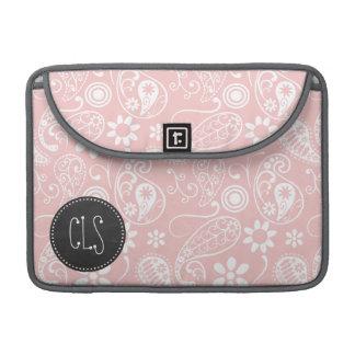 Baby Pink Paisley; Vintage Chalkboard look Sleeve For MacBooks
