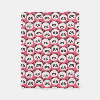 Baby Pink Panda Bear Fleece Blanket