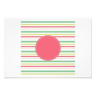 Baby Pink Pastel Mint Green Blue Stripes Circle Art Photo