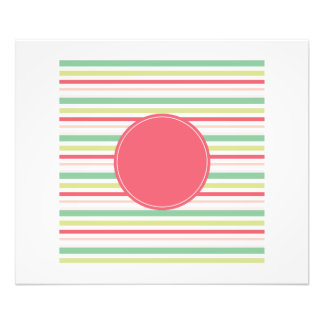 Baby Pink Pastel Mint Green Blue Stripes Circle Photographic Print