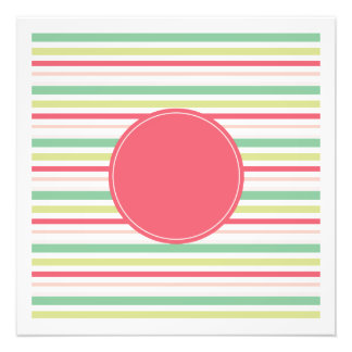 Baby Pink Pastel Mint Green Blue Stripes Circle Photograph