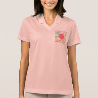 Baby Pink Pastel Mint Green Blue Stripes Circle Polo T-shirt