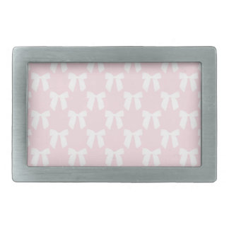 Baby Pink Pastel With White Bows Belt Buckles