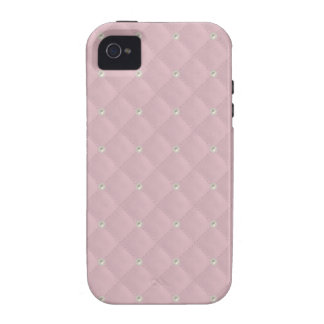 Baby Pink Pearl Stud Quilted iPhone 4/4S Cases