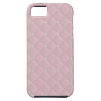 Baby Pink Pearl Stud Quilted iPhone 5 Case