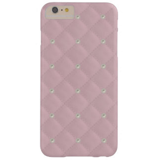 Baby Pink Pearl Stud Quilted Barely There iPhone 6 Plus Case
