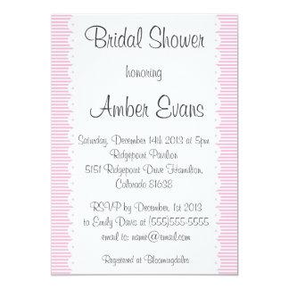 Baby Pink Pinstripes Bridal Shower Invitation