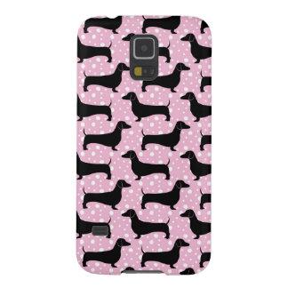 Baby Pink Polka Dachshunds Galaxy S5 Case