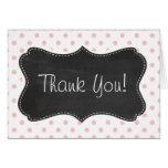 Baby Pink Polka Dots; Chalkboard Card
