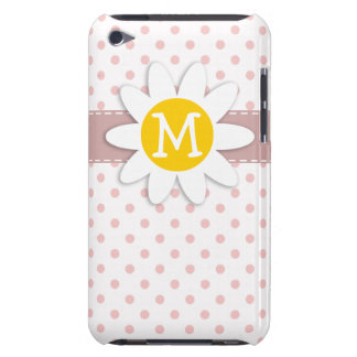 Baby Pink Polka Dots Daisy iPod Case-Mate Cases