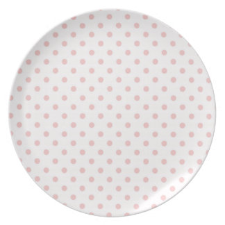 Baby Pink Polka Dots Dinner Plate