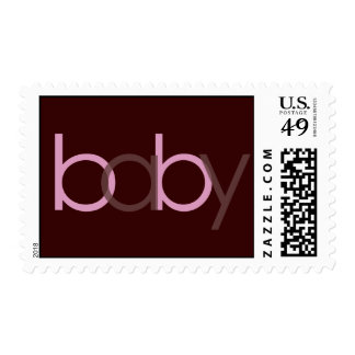 baby Pink Postage Stamp