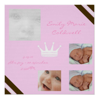 Baby Pink Queen Collage Framed Wall Art