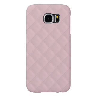 Baby Pink Quilted Leather Samsung Galaxy S6 Cases