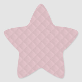 Baby Pink Quilted Leather Star Sticker