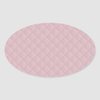 Baby Pink Quilted Leather Oval Sticker