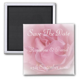 Baby Pink Rose Save The Date Magnet
